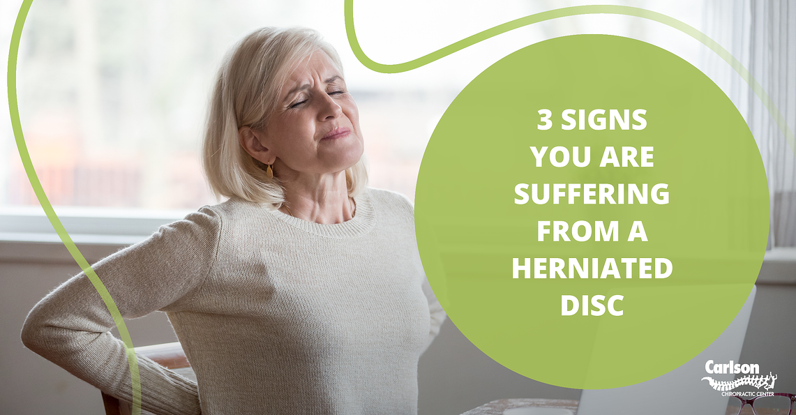 3 Signs you are Suffering from a Herniated Disc