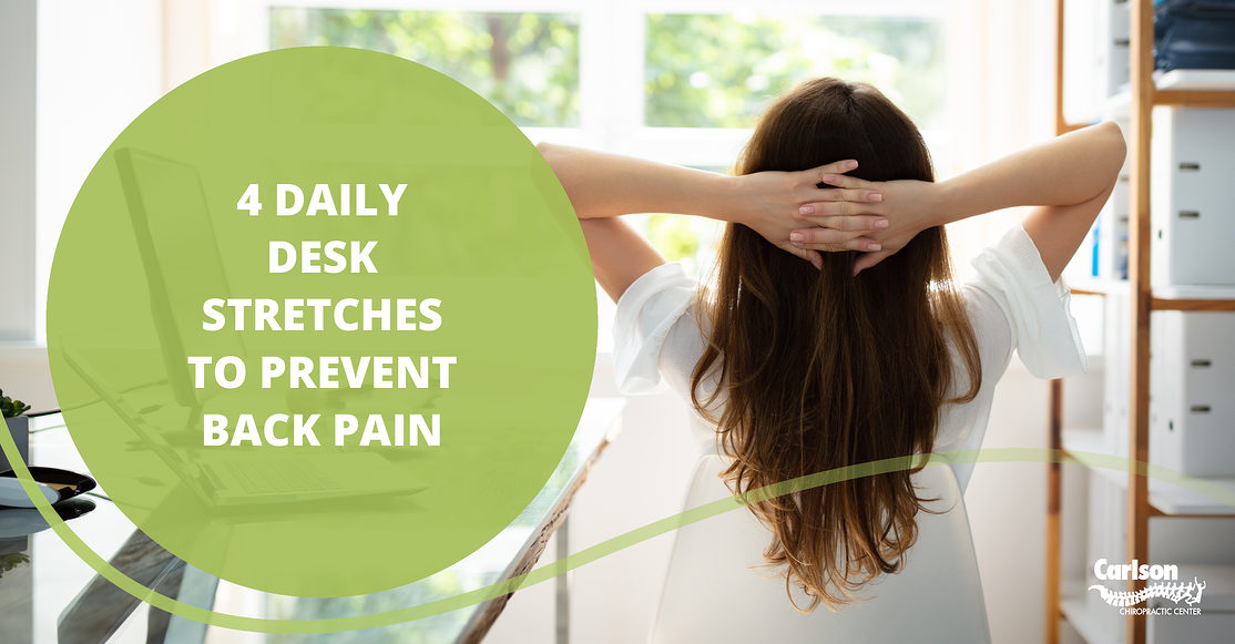 4 Daily Desk Stretches to Prevent Back Pain